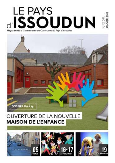 Couverture Magazine Le Pays d'Issoudun - Janvier 2018 N°225
