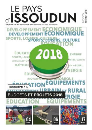 Couverture Magazine Le Pays d'Issoudun - Fév. 2018 N°226