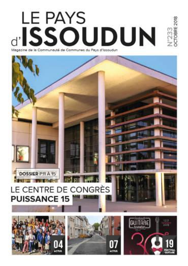 Couverture Magazine Le Pays d'Issoudun - Octobre 2018 N°233