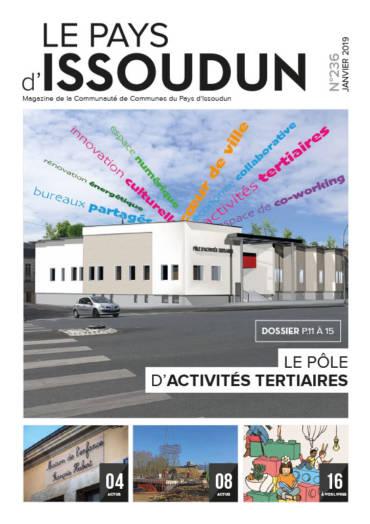 Couverture Magazine Le Pays d'Issoudun - Janv. 2019. N°236