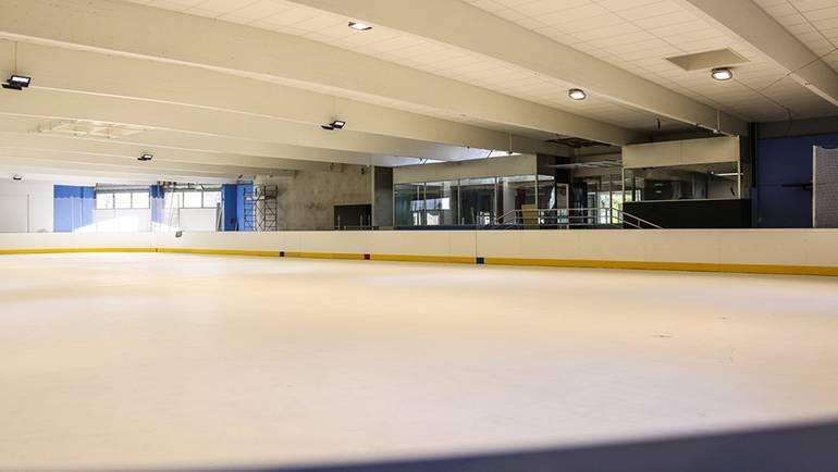 Grands travaux à la patinoire